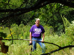 """Franklin Creek State Natural Area - 20 (""""Just an ol' nature boy takin' a picture"""") Tags: trees man flower tree nature creek person franklin branch natural state foliage area twig wildflower"""