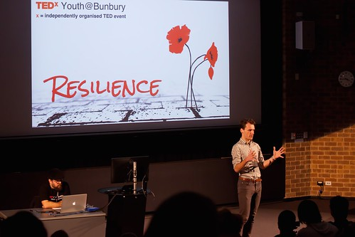 Conrad talking about homelessness TEDxYouth@Bunbury