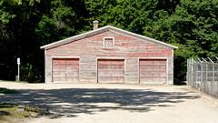 Sort of a Garage (joeldinda) Tags: grandriver tree garage michigan ioniacounty portland millpond 2913 july building shed dampond 2015 nikon 1v2 v2 nikon1v2