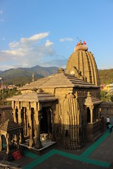 Baijnath temple with the view of forested hills and the snow capped Dhauladhar mountains. Baijnath is a temple town in Himachal.  #Himachal #Himalaya #India #picoftheday #photooftheday #ClimberExplorer #rural #incredibleindia #countryside #sky #skywatch # (Anil.Yadav1) Tags: picoftheday incredibleindia clouds skywatch sky himachal kangra dhauladhar baijnath mountains countryside climberexplorer india stream himalaya sun rural snow photooftheday templeanilyadavpalampurbirbilling