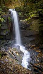 Lumsdale Waterfall (John__Hull) Tags: lumsdale waterfall peak district matlock water autumn leaves rocks nikon d3200