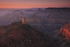 sunrise, mount hayden, grand canyon (twurdemann) Tags: 09ndsoftgradreverse americansouthwest arizona coloradoriver dawn fujixt1 gnr3 grandcanyon horizon landscape mounthayden mthayden northrim overlook pointimperial singhray sunrise unitedstates walhallaplateau xf1855mm