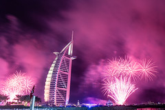 New Year in Dubai - Burj Al Arab برج العرب (Bengin Ahmad) Tags: 2017 dubai newyear fireworks celebration burj al arab burjalarab hotel luxury colors happiness party art uae دبي الامارات sky outdoor bright