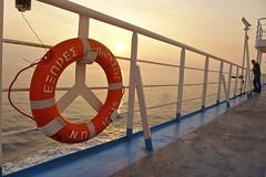 Pegasus Express (Fif') Tags: greece grèce griechenland hellás hellas égée aegean 2016 boat ferry bateau sunset coucher de soleil bouée safety