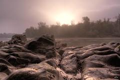 Gesteinswelten am Rhein 2, Nebel im Gegenlicht