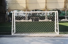 The Net (jcbkk1956) Tags: bangkok thailand thonglo football soccer pitch net goal indoor film 35mm analog fujica compact35 kodak gold200 200iso zonefocus manualfocus arena10 worldtrekker