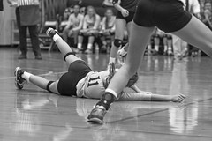 IMG_8375 (SJH Foto) Tags: girls volleyball high school york delone catholic team teen teenager black white blackandwhite bw monocolour dig bump dive burst mode