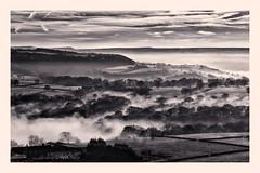 Misty day at Castle Hill (belly.1964) Tags: castle hill huddersfield nikond7200 misty clouds sky sigma1850f28 monochrome bw
