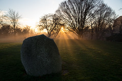 Hilly Fields (cath dupuy) Tags: sunset london trees horizon winter hillyfields brockley lewisham ladywell selondon crystalpalace fog mist foggy stonecircle stones park greenspace urbancountry urban
