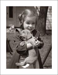 Portrait 001-10 (Steve Given) Tags: portrait family vintage child girl pet dog puppy