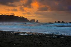 Rialto Beach Sunrise (jfusion61) Tags: washington olympic national park northwest pacific ocean sunrise waves water coast landscape clouds la push rocks quileute lands rialto beach first nikon d810 2470mm