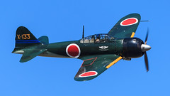 Mitsubishi A6M3 Zero (Norman Graf) Tags: 2016oregoninternationalairshow a6m3 a6m3model22 airshow aircraft airplane fighter hillsboro mitsubishi n712z oregon plane wwii warbird x133 zeke zero