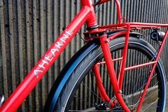 Stainless logo (Ahearne Cycles) Tags: pinion gearbox 18speed custom bike commuterbike touringbike customrack