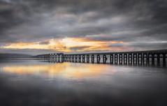 Sun Up (Neillwphoto) Tags: river tay sunrise water dundee bridge rail