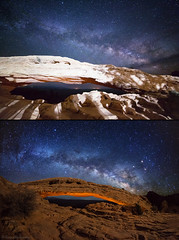 "Headlamp intrusion (IronRodArt - Royce Bair (""Star Shooter"")) Tags: nightscape nightscapes nightphotography lightpainting mesaarch canyonlands utah arches nightscaper"
