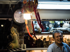 Hong Kong 09 (arsamie) Tags: hong kong china market religion buddha faith laugh man happy joy clock red night