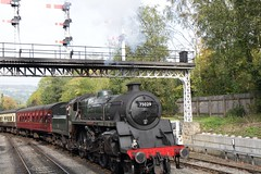 17648 NYMR 75029 The Green Knight Grosmont stn yorkshire england (melbettsimages) Tags: yorkshire nymr steam steamtrain railway 75029 thegreenknight uk england grosmont