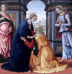 IMG_7994AA Domenico Ghirlandaio.  1449-1494.  Florence.  Visitation. 1491.  Louvre. (jean louis mazieres) Tags: peintres peintures painting musée museum museo france paris louvre domenicoghirlandaio