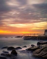 Bronte baths sunrise (solarfractal) Tags: bronte sunrise ocean sea waves beach baths pool oceanpool