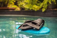 Time to pay the ferryman (jenni 101) Tags: 252 52weekchallange aquatic fins flippers kickboard pool