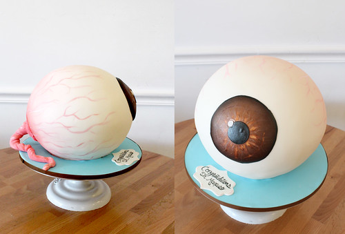 Eye Ball Sculpted cake