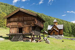 Country idyll (villeah) Tags: warehouse sunny building church architecture scenery norway uvdalstavechurch uvdal buskerud no