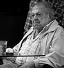 Disbelief ! (Neil. Moralee) Tags: man old mature gamble gambler risk addiction bet betting black white blackandwhite mono monochrome loss lost loose looser loser drink bar face portrait candid neil moralee nikon d7100 18300mm zoom table street cafe debt disbelief