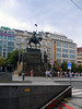 Statue of St Wenceslas in Wenceslas Square -- photo 1 (Dunnock_D) Tags: buildings white clouds road czechia czechrepublic prague cloudy sky wenceslassquare square václavskénáměstí stwenceslas statue equestrian mounted horse