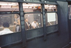 NYC Subway Main St Flushing Line 1960s (Photoscream) Tags: nyc subway nycsubway flushing newyorkcity 7train train trains station old vintage passengers queens