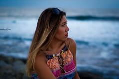 Peaceful (teodoraGran) Tags: sea girl serenity summer mood beautiful woman portrait nikon d90