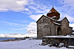 Sevan Monastery (Alexanyan) Tags: sevan twin churches eglise kirche chiesa church monastery christian lake armenia blue sky