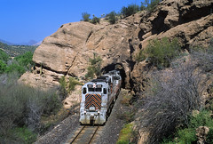 Ore shuttle at Tunnel 2 (Moffat Road) Tags: copperbasinrailway cbry emd gp39 505 tunnel oretrain oreshuttle ot1 tunnel2 ray rayjunction arizona train railroad locomotive az