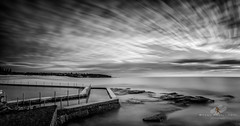 Soth Curl Curl B&W (Bobby Krstanoski - Photography) Tags: australia beach canon canon5dmarkiii canonef1635f28 curlcurl curlcurlrockpool eastcoastaustralia lee10stop leebigstopper lightpainting longeposure nsw ocean outdoor panoramic places seascapes summer sunrise sydney