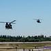 A Chinook HC.6 Leads A MH-60M Blackhawk Onto the Historic Flight Foundation Tarmac