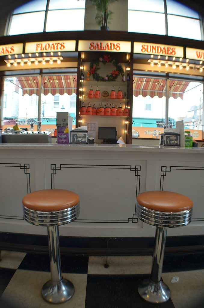 Retro Diner Kerry Rafferty Tags Vintage Counter Dining Soda Restaraunt Stools Checkered Stewarts