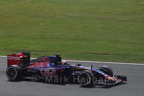 Max Verstappen in qualifying for the 2015 British Grand Prix at Silverstone