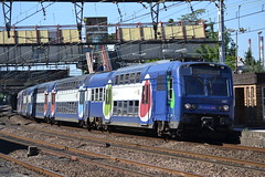 SNCF Transilien RER C 28C 5655 - 5656 (Will Swain) Tags: travel paris france station train de french europe gare c south transport july rail railway des east 10th railways franais socit parisian fer rer sncf nationale transilien 2015 5656 28c chemins 5655 choisyleroi