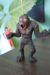 King Kong Rubber Jiggler (AHI 1973) (Donald Deveau) Tags: toy rubber kingkong ahi monstermovie vintagetoy azrak jiggler hamway
