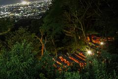Fushimi Inari Taisha Shrine (Hisa-nori) Tags: japan night kyoto shrine fushimiinaritaishashrine