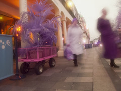 Purple Blur (4foot2) Tags: streetphoto streetshot street streetphotography candidportrate candid peoplewatching people peopleofbrighton interestingpeople reportage reportagephotography brighton newroad blur motionblur movement infrared infraredfilter digitalinfraredphotography yellow yellowfilter olympus olympusc5060 highpassfilter highpass lowpassfilter lowpass falsecolours shootfromthehip 2016 fourfoottwo 4foot2flickr 4foot2photostream 4foot2