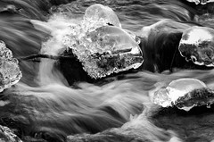 Water and ice (mellting) Tags: eskilstuna platser sigma1506005063sport skjulsta bloggad flickr instagram matsellting mellting nikon nikond7000 sverige sweden water ice winter rocks monochrome blackandwhite bnw