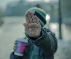 Talk to the Hand (lukich791) Tags: hand shy street sonya7 switzerland lucerne