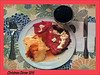 Dinner at Eight (Cliff Michaels) Tags: iphone6 photoshop pse9 dinner chrismas