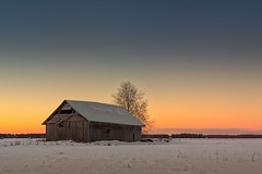 Midwinter Sunset On The Fields (k009034) Tags: 500px wooden copy space finland matkaniva oulainen tranquil scene agriculture architecture barns birch building clouds countryside farming farrming fields nature no people old rural sky snow sunset trees winter teamcanon