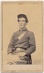 The Thousand-Yard Stare (Piedmont Fossil) Tags: antiquephoto cdv cartedevisite civilwar union soldier uniform explored