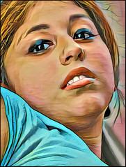 (Cliff Michaels) Tags: mikon photoshop pse9 prisma face girl beautiful portrait