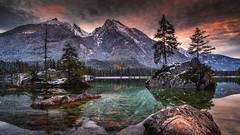 Hintersee (Croosterpix) Tags: hintersee germany bavaria bayern lake sunset reflections nature landscape nikond610 nikkor1835
