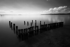 Lake (Massimo_Discepoli) Tags: monochrome longexposure water clouds italy blackandwhite landscape beautiful trasimeno
