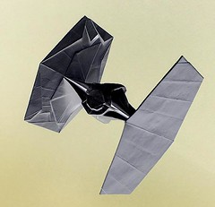 First Order TIE fighter origami (Matayado-titi) Tags: tiefighter starwars origami