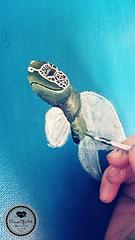 Schildkröte2 (Sandys.PiecesOfArt.) Tags: schildkröte malen gemalt gezeichnet zeichnen drawing turtle undersea blue green animal acryl acrylic canvas auf leinwand acrylmalerei malerei illustration sandyspiecesofart sandys piecesofart